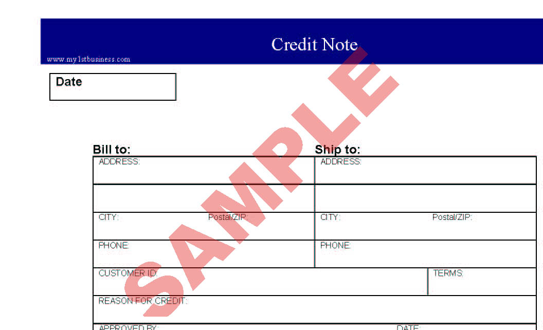 Credit note preview